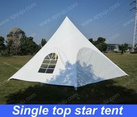 PVC single top star shelter tent with windows