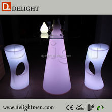 Best selling multicolored illuminated plastic rechargeable portable led glowing table for bistro