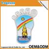 Lovely foot-style custom logo or blank acrylic fridge magnet china wholesale