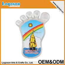 Lovely foot-style custom logo or blank acrylic fridge magnet