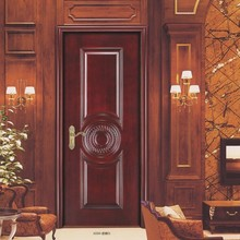 modern concise wheat style best carving wood door design