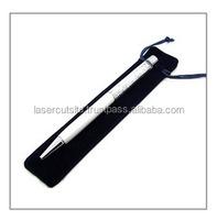 Black Drawstring Velvet Pen Bag