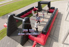 inflatable human table soccer field / inflatable soccer table / human table soccer field