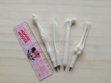 Student creative ballpoint pen human bones ballpen school office supplies home decoration kids gift