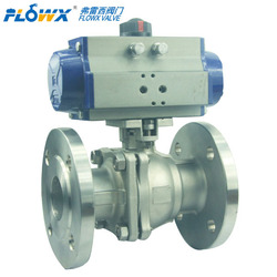best selling products 2014 Pneumatic Flanged ball valve used in petroleum, chemical industry, water treatment, metallurgy, elec