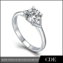 Wholesale Diamond Ring,Fashion Silver Engagement Ring