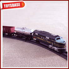 Kids Funny B/O Battery Operated 1:87 Plastic Classic Railway Electric Locomotive model cartoon trackless ho scale model train