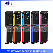 2015 Multicolor football pattern 4.7'' PC+Silicon case for iphone6