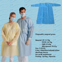 nonwoven SMS disposable EO sterilized patient surgical gown / scrub suits