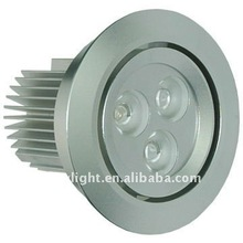 Common dimmable high power rotatable led down light 9W 80mm cutting