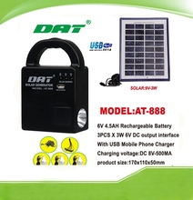 hot selling AT-888 solar home lighting kits ,with led bulbs,solar led lighting system