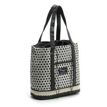 dot shopping bag canvas bag handbag ladies bag with drawstring and PU handle