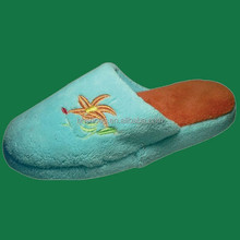 BH09047 nude kids indoor slippers suede with floral printing
