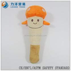 promotional toys/plush/stuff toys/yellow plush mushroom/plush fruit and vegetables toy, Customised toys,CE/ASTM safety stardard