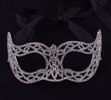 wholesale birthday party supplies full crystals party face mask for Halloween