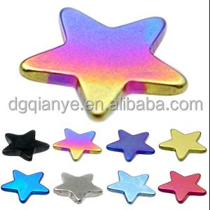 New arrivel star top dermal piercing jewelry Zirconia Micro dermal piercing