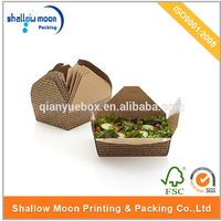 disposable kraft salad packaging box wholesale
