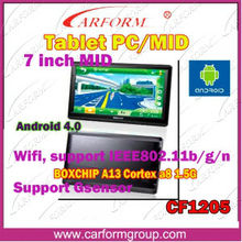 7 inch android tablet gsm gps with wifi