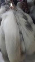 30-40cm natural color fox tail fur keychain / fox fur tail