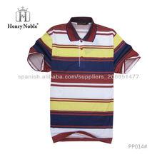 guangzhou fabricación de moda rayó marca Henrynoble ropa casual camisas polo por mayor de china
