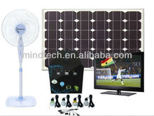60W solar power system with led lamps