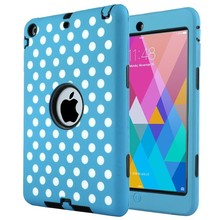 High Quality 3 in 1 PC Silicone Case For iPad Mini Case