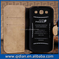 Cute For samsung s3 case , Classic frosted leather case for Samsung Galaxy S3