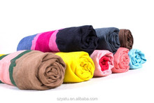Best Selling Muslim HIjab Multied Color Striped Scarf Assorted Color Neck Tube Scarf