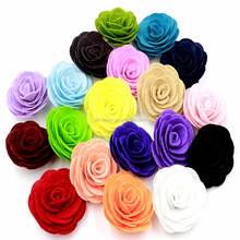 "Handmade 2"" Wool Felt Rose Flower Without Clips,Wedding Decoration Rose Flower For baby's Headbands Baby Hair Accessories"