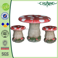 "31"" Wholesale Mushroom Cement Garden Table Chairs"