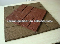 rubber tiles with brick surface pattern for driveway, side walk, pathway etc