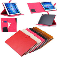 luxury Crazy horse design wallet leather smart cover case for apple iPad air 2
