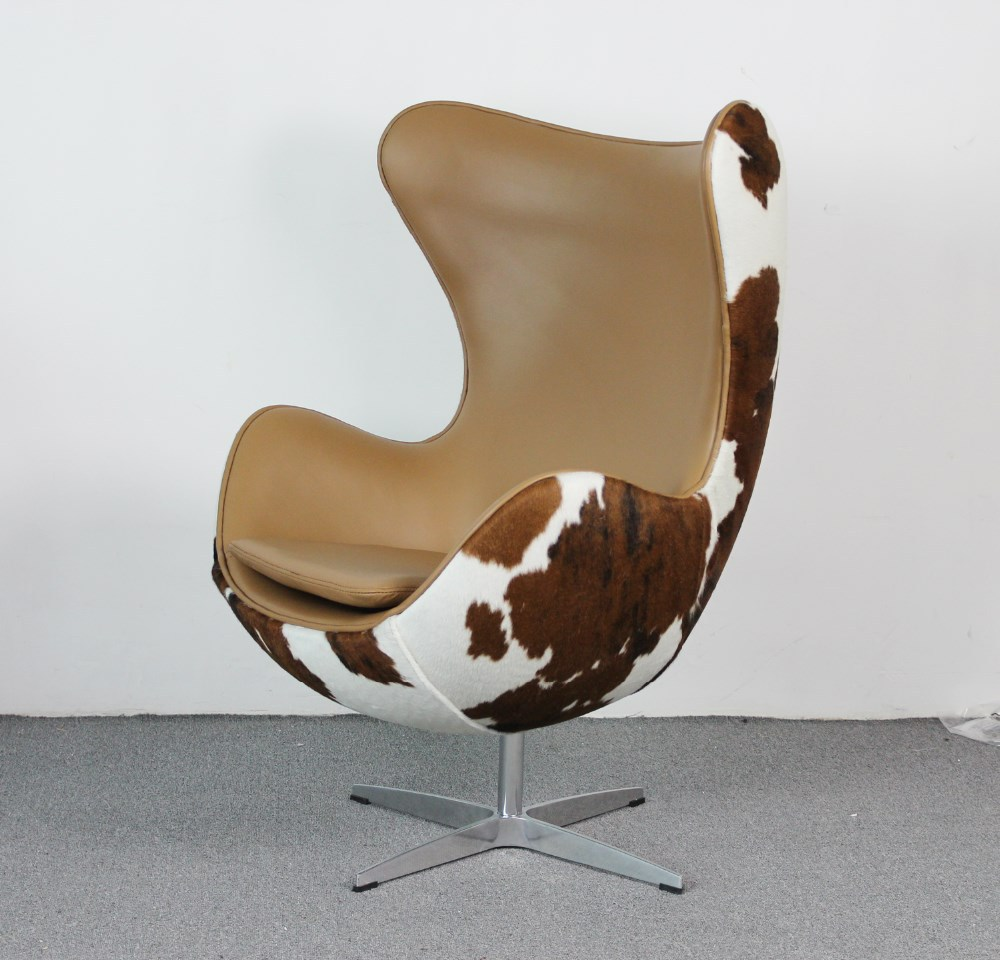 replica arne jacobsen cow hide egg chair mkf37lc buy leather chair