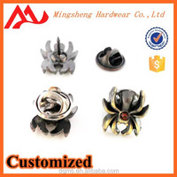 Best selling metal pin cheapest custom spider collar pin