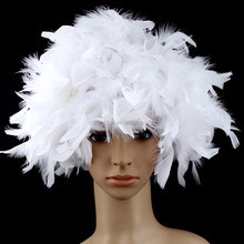 High quality factory price short feather synthetic hair wigs