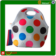 Generic Neoprene Insulated Lunch Bag Dot Candy White