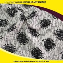 2015 winter hot sale cotton sun patterns jacquard cable knit fabric sweater fabric