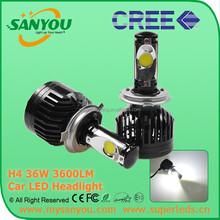 Super bright high power auto led headlight bulbs h4 high low/hi beam for car led headlamp