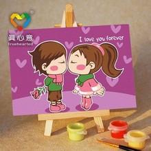 fabric painting cartoon designs 10*15 cm cartoon desk painting