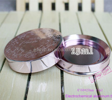 Silver/pink Aluminum compact aluminum jar hot sale in alibaba China