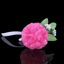 Summer fabric flower cluster stretch bracelet, flower Stretch Glove Bracelet,women big flower wrist
