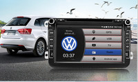 8inch double din in-dash pure andorid 4.4.4 OS car audio car radio for Volkswagen series with bothway can bus