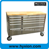 55inch Garage Work Bench metal tool chest with wooden top