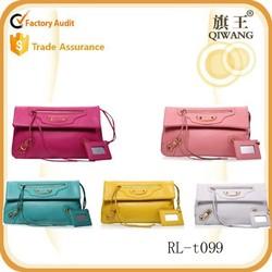 2015 hot selling Mulit color Leather women bags Promotion smile bag envelope clutch bag