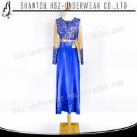 MD A002 Hot sale muslim long sleeve baju kurung fashion Fashion design muslim baju kurung moden baju kurung and kebaya