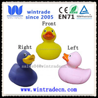 eco-friendly soft plastic colorful duck toy for kids