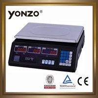 40kg LED or LCD display electronic price computing digital weighing scales small scale manufacturing machines