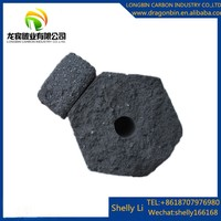Long burning time Barbecue (BBQ) Application and Bamboo Material Bamboo charcoal briquette