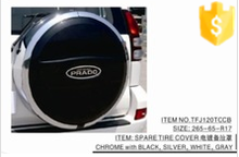 SPARE TIRE COVER CHROMED Size 265-65-R17 FOR TOYOTA PRADO FJ120 - Trade Assurance Supplier Wholesale CAR ACCESSORIES