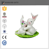 hot sell funny bunny shaoe ceramic easter salt ans pepper container
